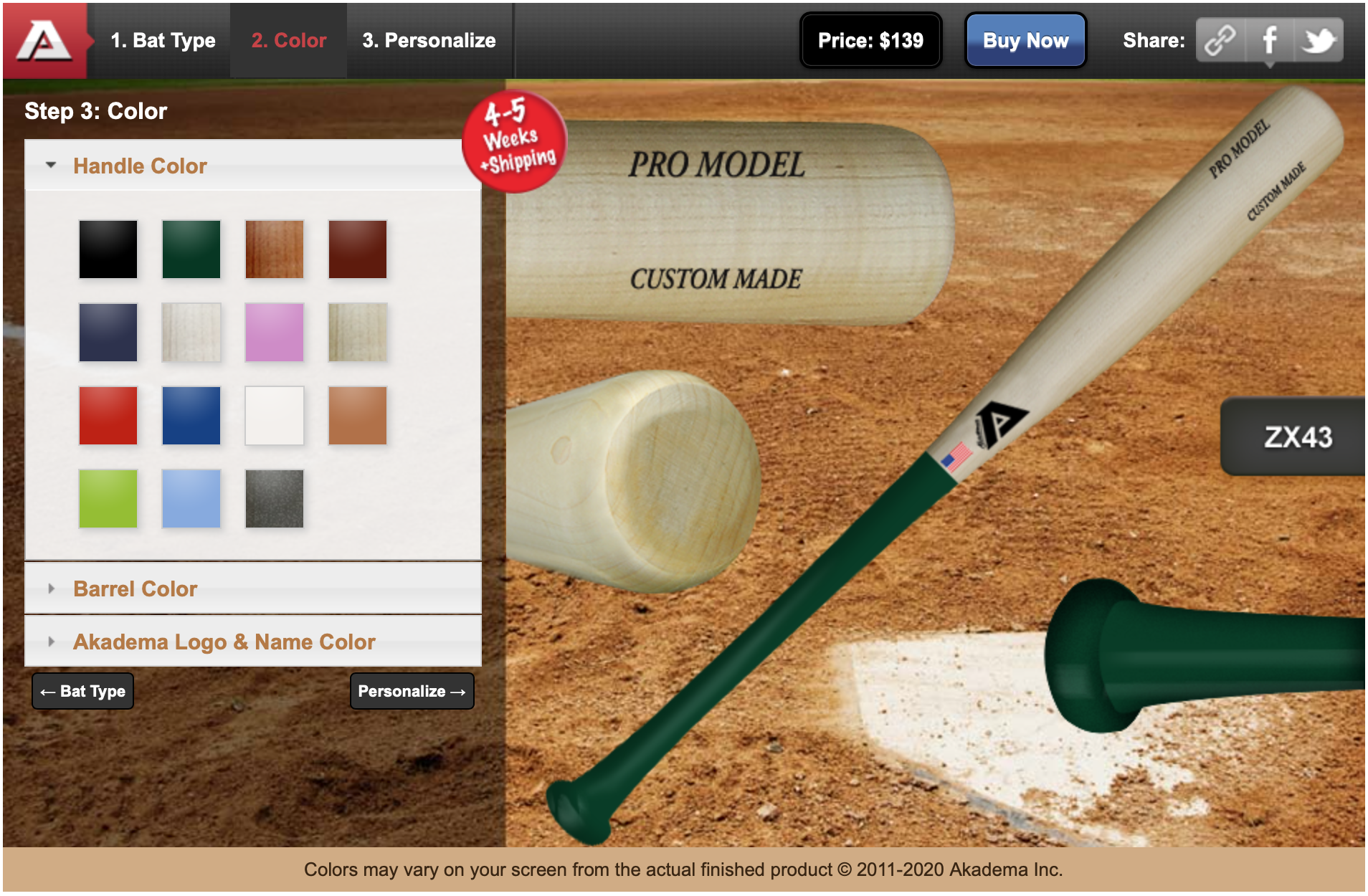 baseball bat builder web design and development