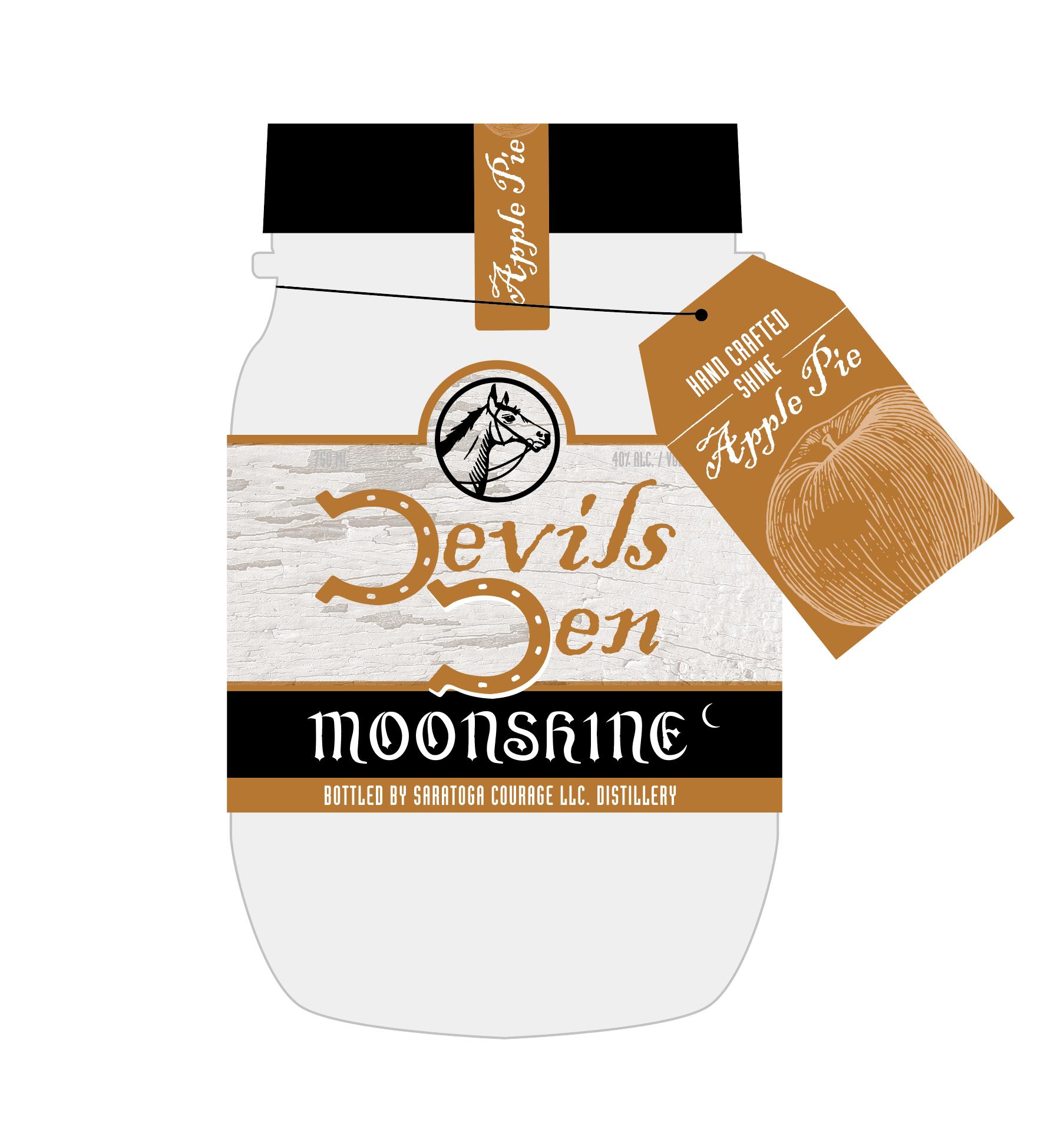 distillery moonshine label design by Mike Hosier
