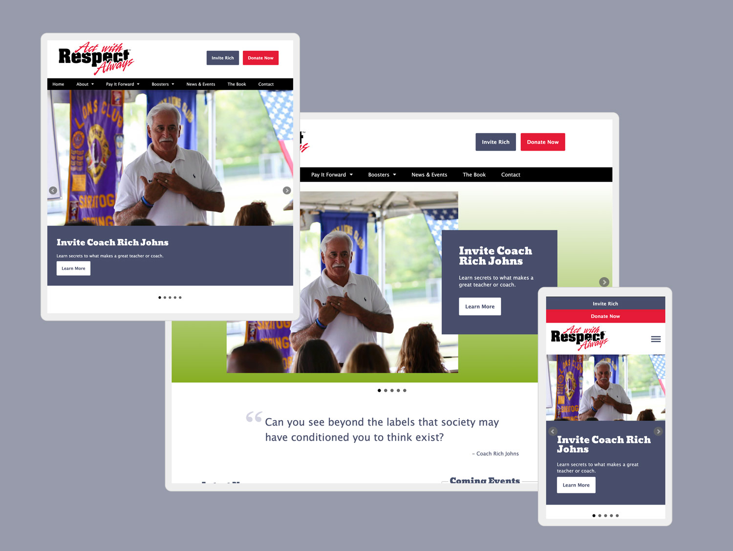 act with respect web design by mike hosier