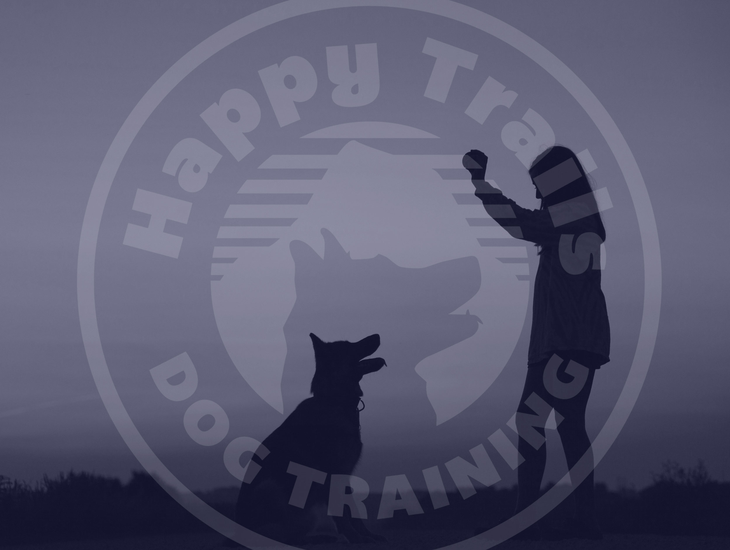 happy trails dog trainer logo design by mike hosier