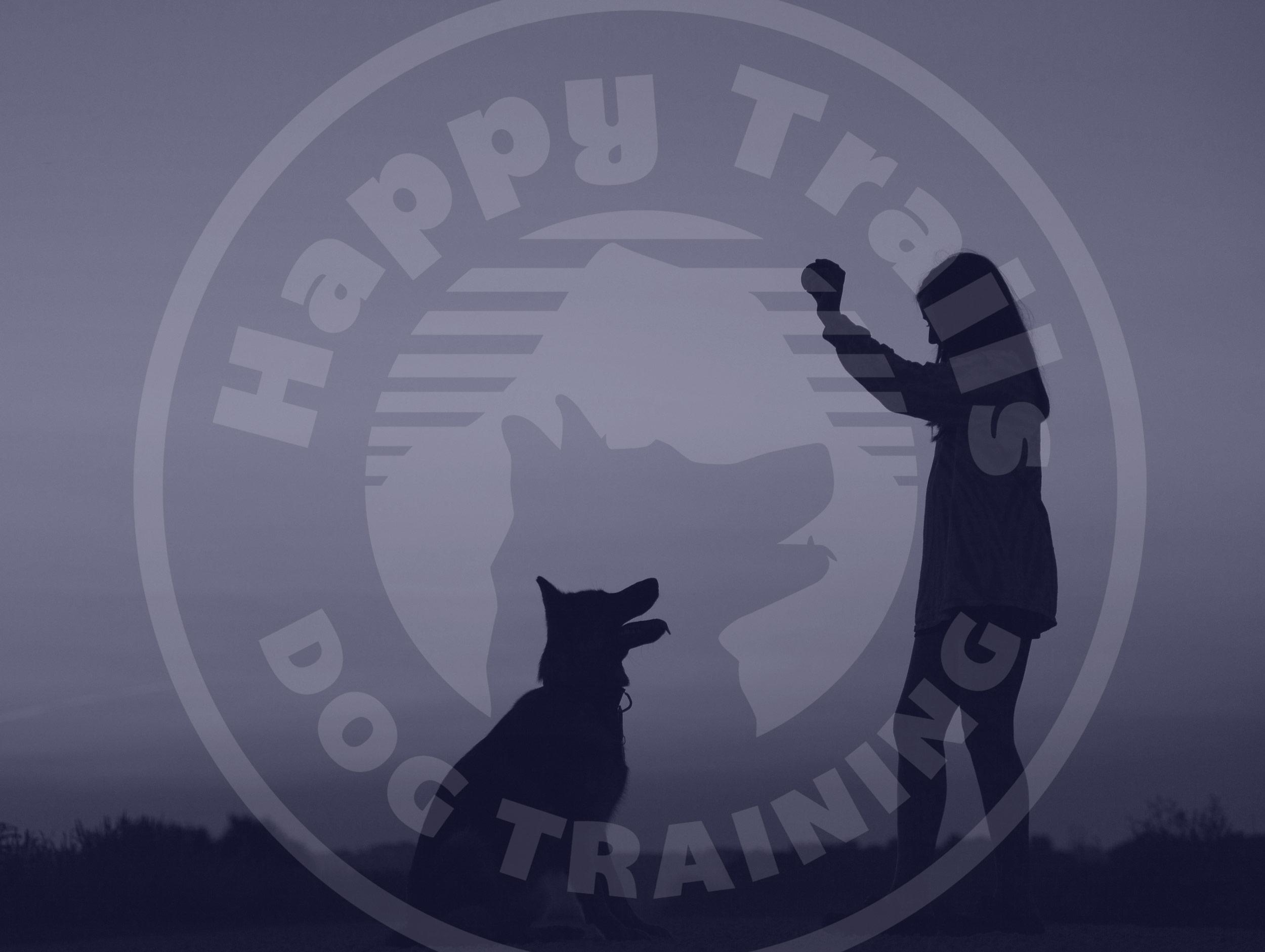 happy trails dog trainer logo design by mike hosier