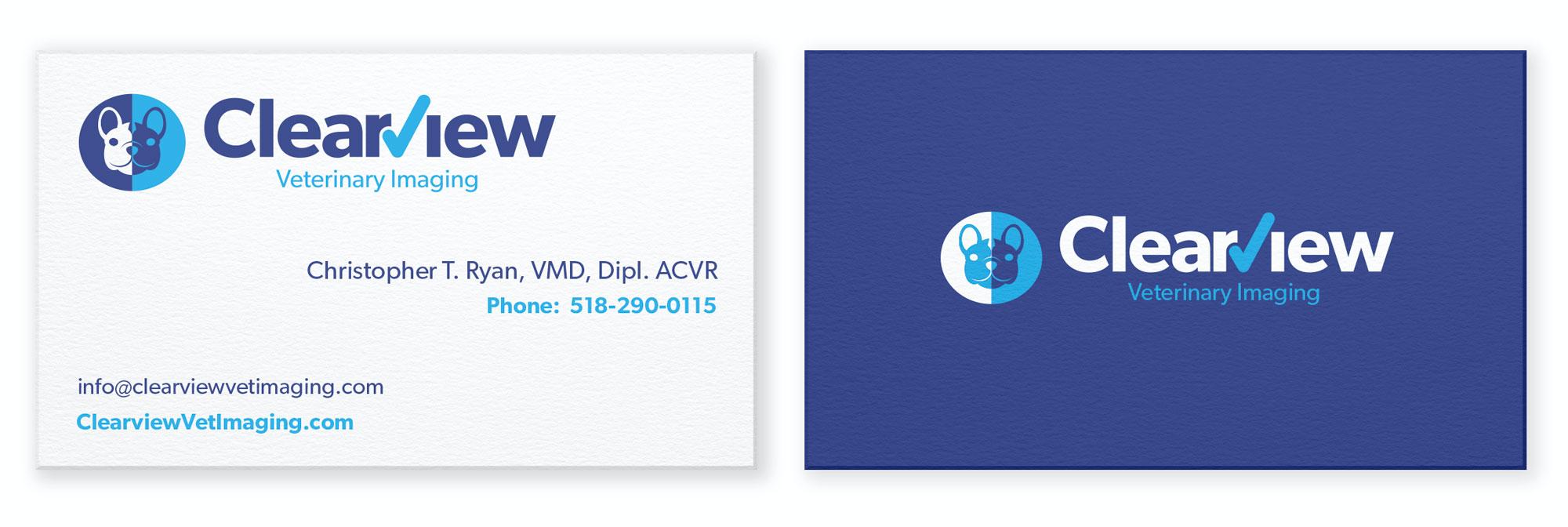 veterinary business card design
