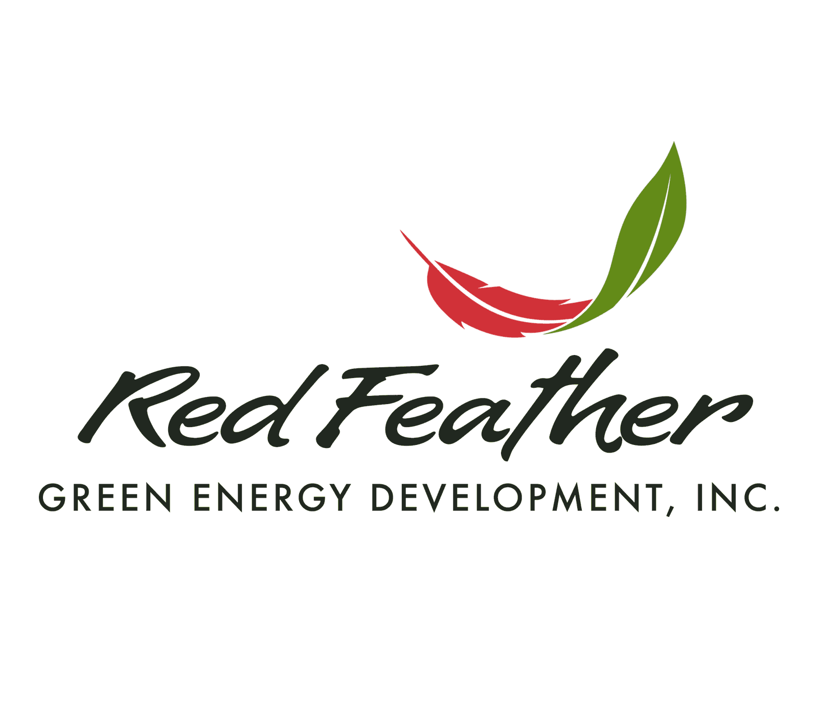 feather logo for green energy company