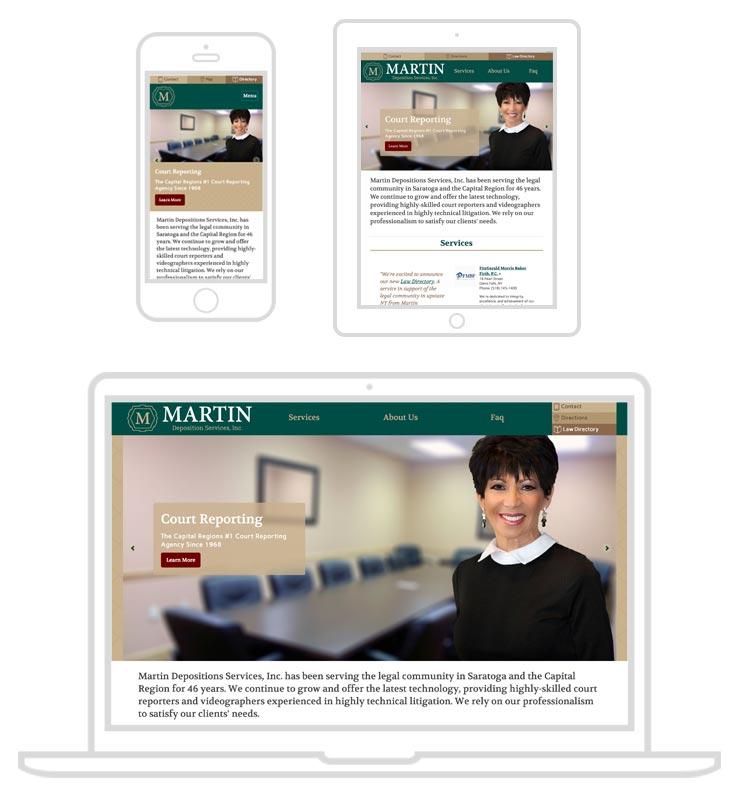 web design for deposition services
