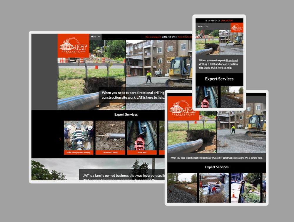 construction web design by mike hosier