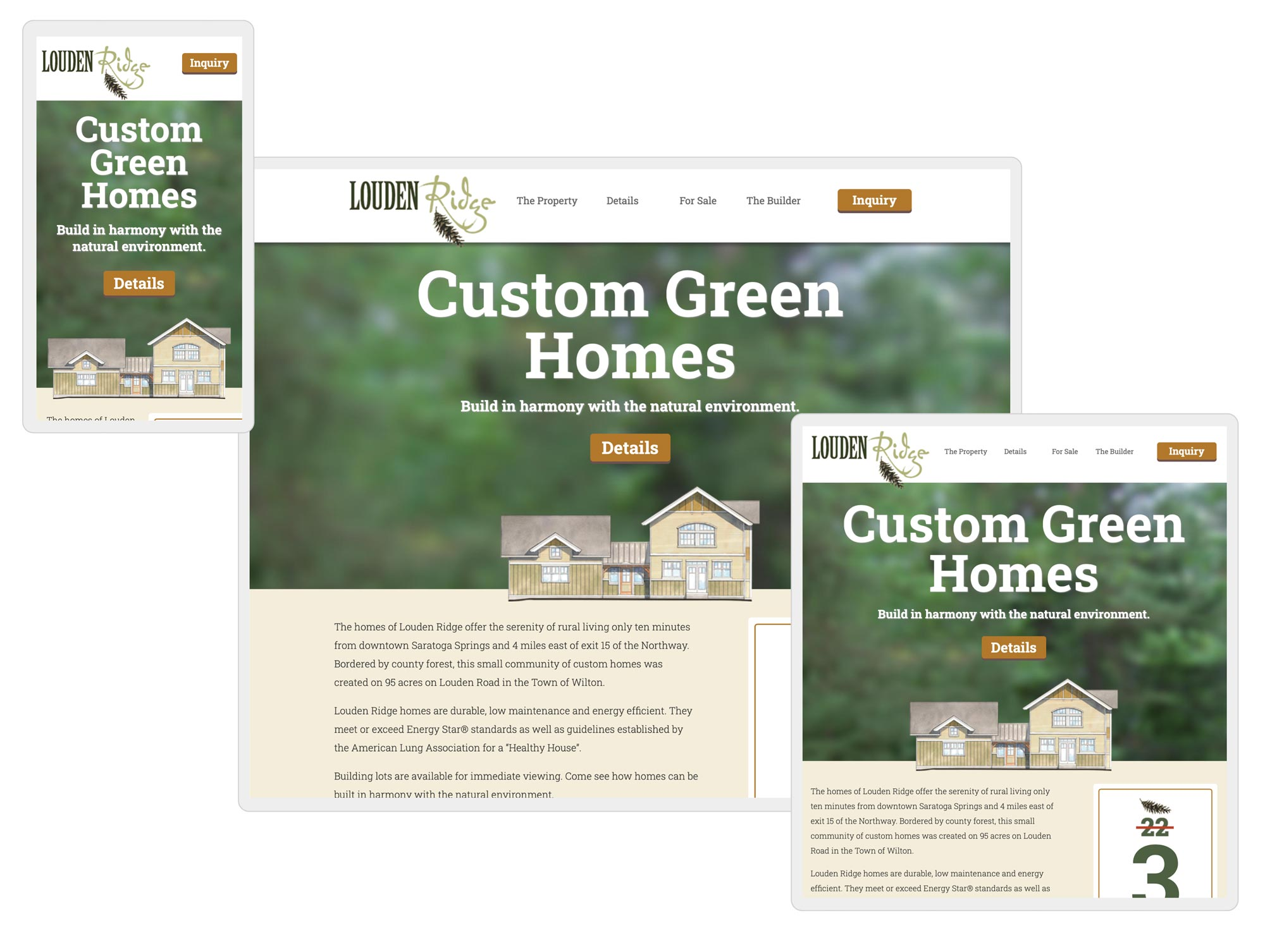 green homes web design by mike hosier