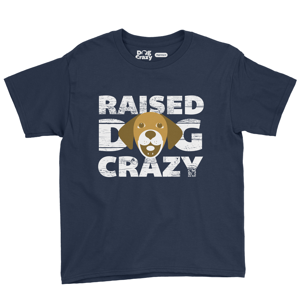 dog crazy kids t-shirt by mike hosier