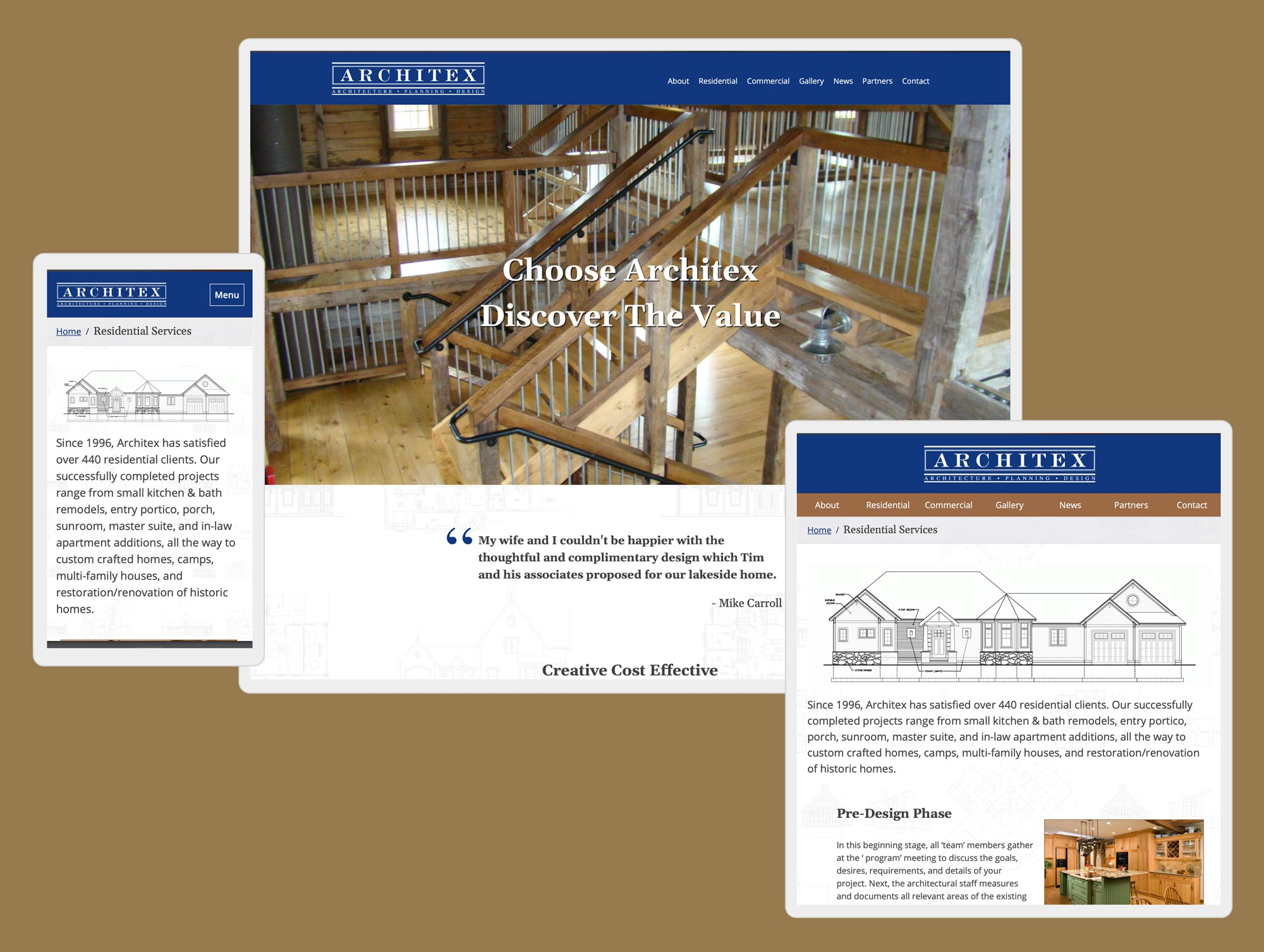 latham ny architect web design by mike hosier