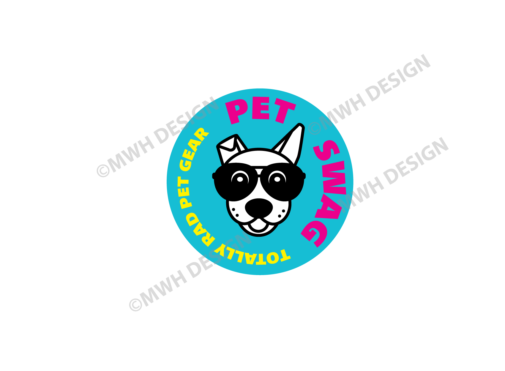 dog brand logo design by mike hosier