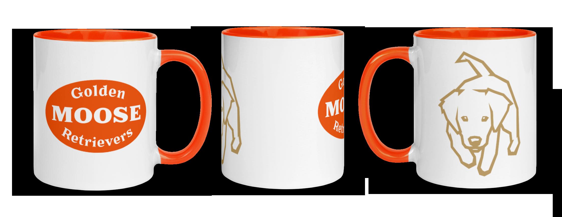 moose golden retriever coffee mugs